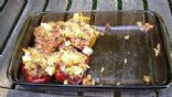 Baked Peppers Stuffed with Rice and Feta Cheese