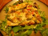 Spring Vegetable Quiche (231 calories per 6th)