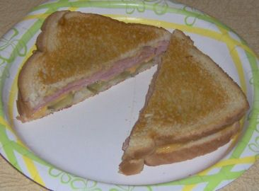 Grilled Spicy Mustard Ham and Cheese