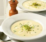 Winter leek & potato soup