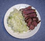 Filet Mignon w/ Braised Cabbage