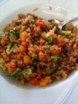 Whole Grain Wheat Pilaf with veggies