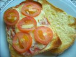 open faced grilled tomato cheese sammy