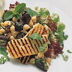 Griddled Halloumi with Minted Chickpea Salad