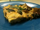 "Spinach Potato Frittata ""Pizza"""