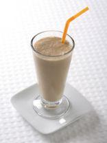Sweet low sugar chocolate banana smoothie