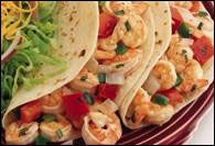 Honey Cilantro Shrimp Soft Tacos