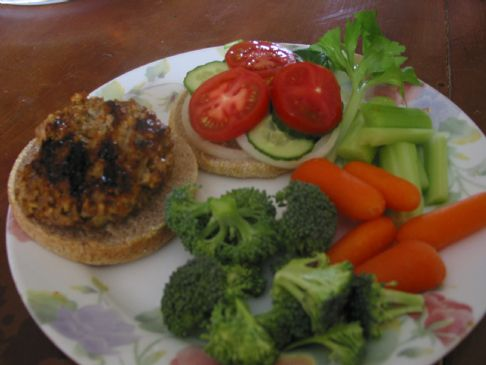 Gingery Lentil Turkey Burgers