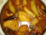 Bengali fish curry with vegetables