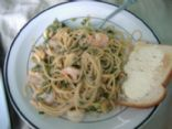 Shrimp and Goat Cheese Spaghetti