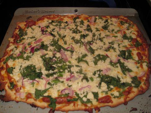 Spinach, Feta, Mozza Pizza