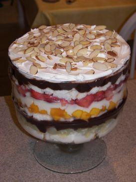 Mixed Fruit (nearly) Sugar-Free Trifle