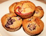 LADY'S GLUTEN FREE, DAIRY FREE, NATURAL MIXED BERRY MUFFINS