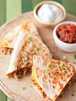 BBQ Chicken & Cheddar Quesadillas