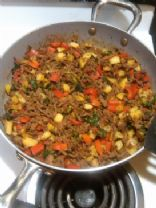 Salsa and Beef Stir Fry