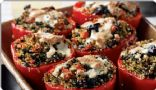 Quinoa-Stuffed Red Bell Peppers