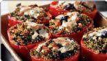 Quinoa-Stuffed Red Bell Peppers