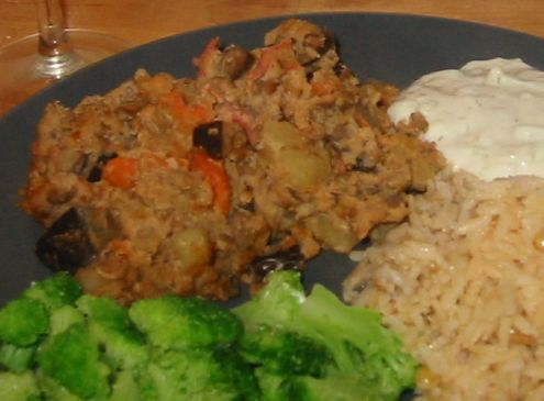 Faux Moussaka with Lentils