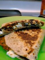Pumpkin Black Bean Quesadilla
