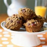 Whole Wheat, Oatmeal, and Raisin Muffins