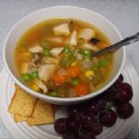 Chicken and Roasted Vegetable Soup