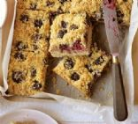 Blackberry & coconut squares