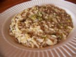 Mushroom and Leek Brown Rice
