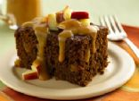 Yoplait Ginger Cake with Caramel-Apple Topping