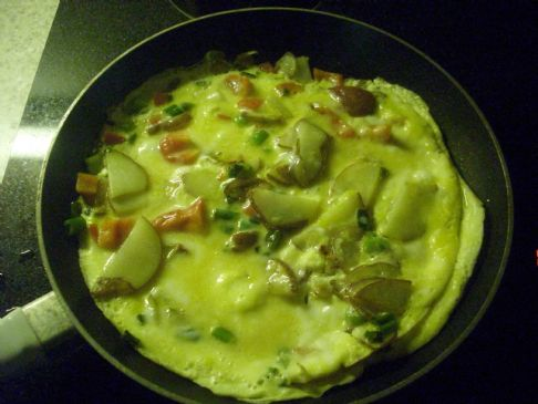 Red Potato, Bell Pepper, Tomato, Mushroom, Veggie Omelet
