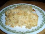 Baked Cod coated with Italian Breadcrumbs