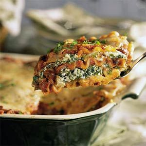 Spinach & Black Bean Lasagne