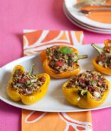 Orzo & Beef Stuffed Peppers