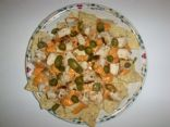Spicy Chicken and Cheese Nachos