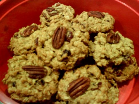 Oatmeal Cookies with Craisins, Walnuts & Pecans