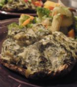 Vegan Spinach and Artichoke Dip Stuffed Portabella Mushrooms