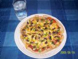 Vegetarian Tortilla Pizza