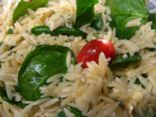 Lemon Orzo Salad with Spinach and Tomatoes