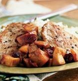 Pork Medallions With Nectarine-Cranberry Chutney