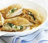 Spinach, Feta, Ricotta Stuffed Chicken
