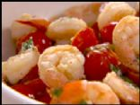 Shrimp & Tomatoes, in garlic herb wine sauce