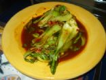 Spicy Garlic Baby Bok Choy