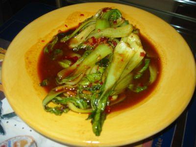 Spicy Garlic Baby Bok Choy