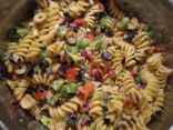 Italian pasta salad with a Greek flair