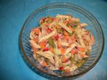 Lemon dill shrimp pasta salad
