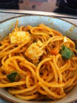 Red Curry Peanut Butter Noodles