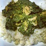 Tofu Palak Paneer (Spinach Curry)