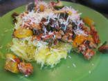 Summer Kale & veggie Italian spaghetti squash
