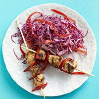 Beef Kebabs & Tangy Slaw