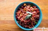 Beet and Wheat Berry Salad with Spinach and Parmesan