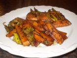 Sweet Balsamic Salmon & Veggies (Meditteranean)